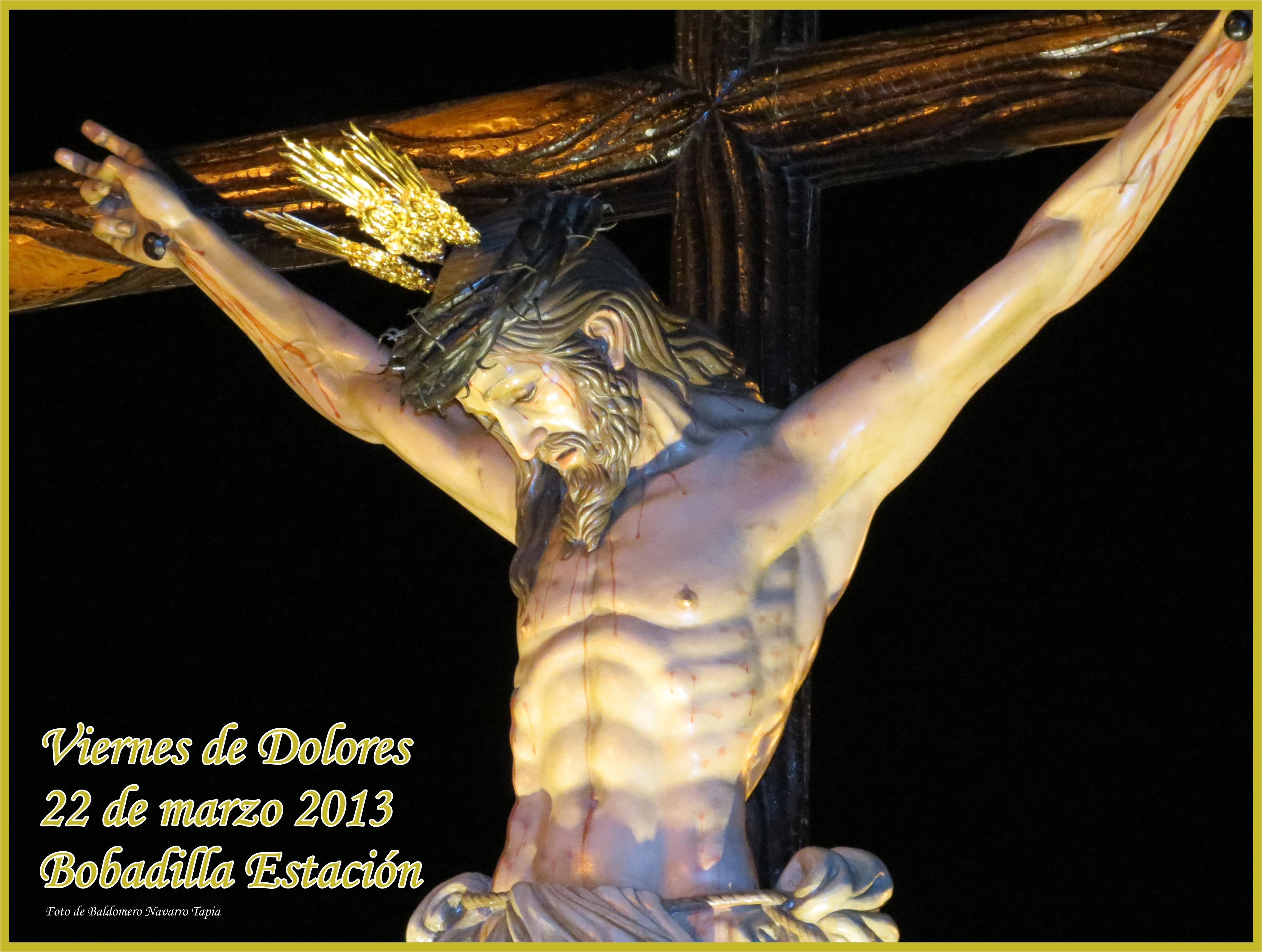 Cartel Viernes de Dolores Bobadilla