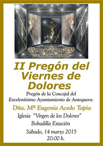 Cartel Pregon viernes de Dolores.