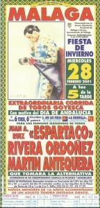 cartel martin de Antequera toma de alternativa