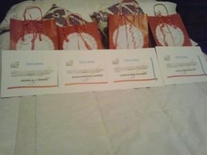 diplomas y regalos