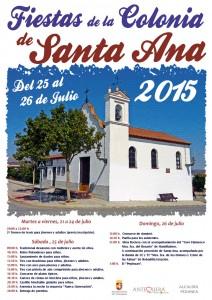 Cartel Fiestas Colonia de Santa Ana 2015